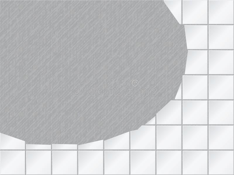 Fond de vecteur - mur carrelé avec un grand trou illustration stock