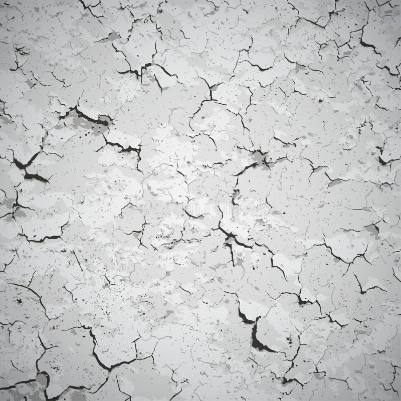 Fond de vecteur - mur couvert de fissures illustration de vecteur