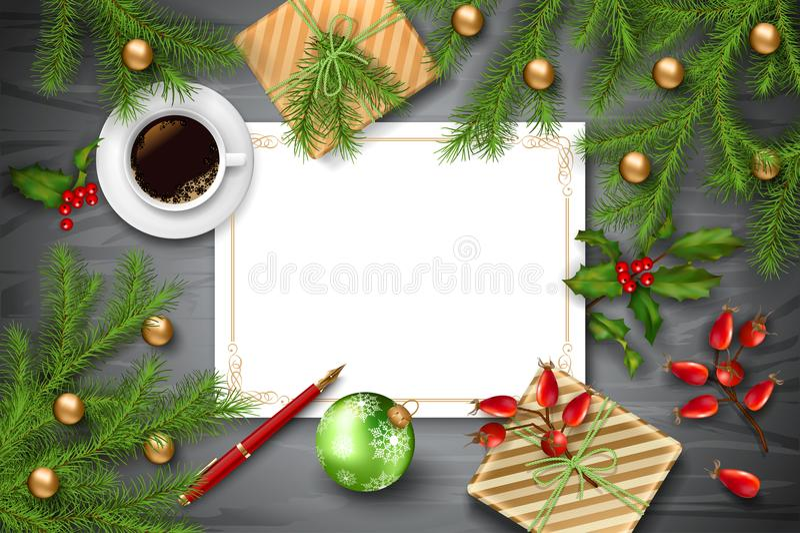Fond de vecteur de Noël illustration de vecteur
