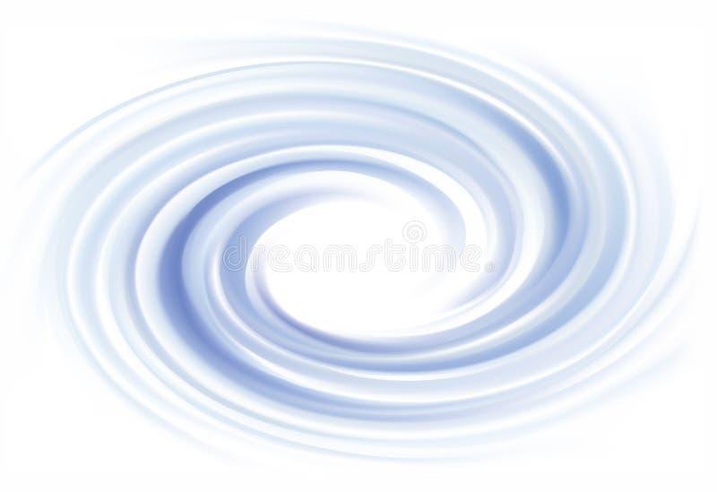 Fond de vecteur de texture de tourbillonnement de l'eau de cobalt illustration stock