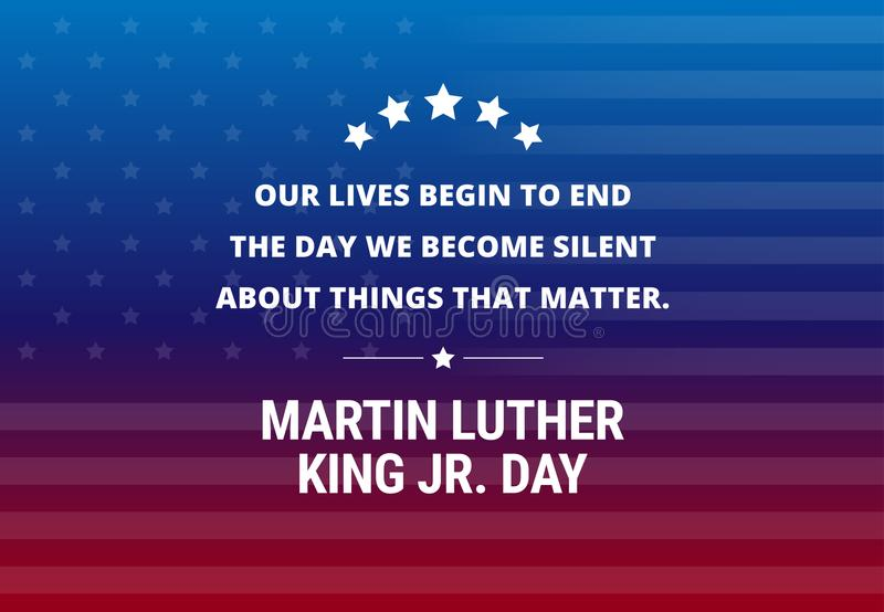 Fond de vecteur de vacances de Martin Luther King Jr Day illustration stock