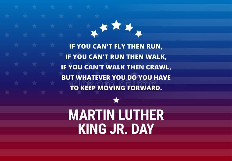 Fond de vecteur de vacances de Martin Luther King Jr Day illustration stock