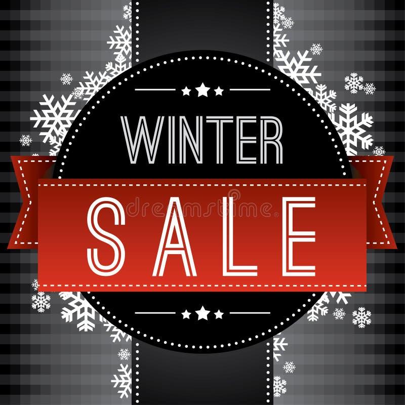 Fond de vente d'hiver illustration stock
