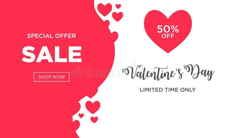 Fond de vente de jour de valentines avec en forme de coeur illustration stock