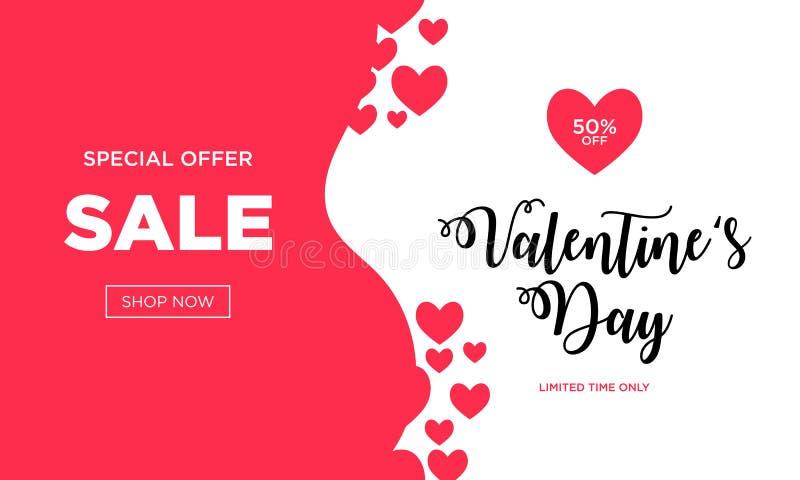 Fond de vente de jour de valentines avec en forme de coeur illustration de vecteur