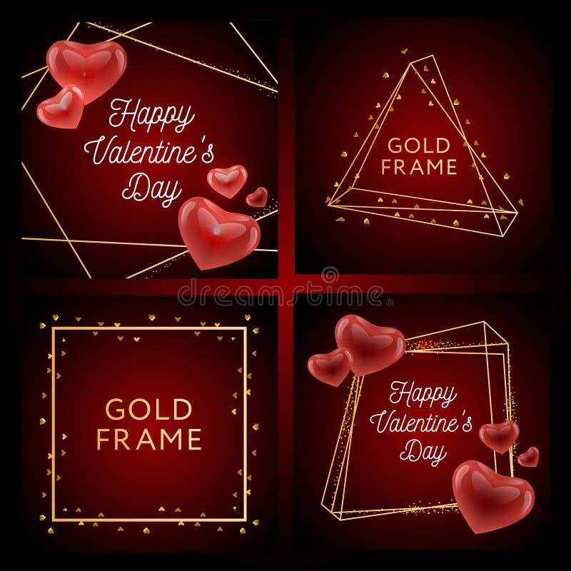 Fond de vente de jour de valentines avec les ballons en forme de coeur Illustration de vecteur wallpaper insectes, invitation, af illustration de vecteur