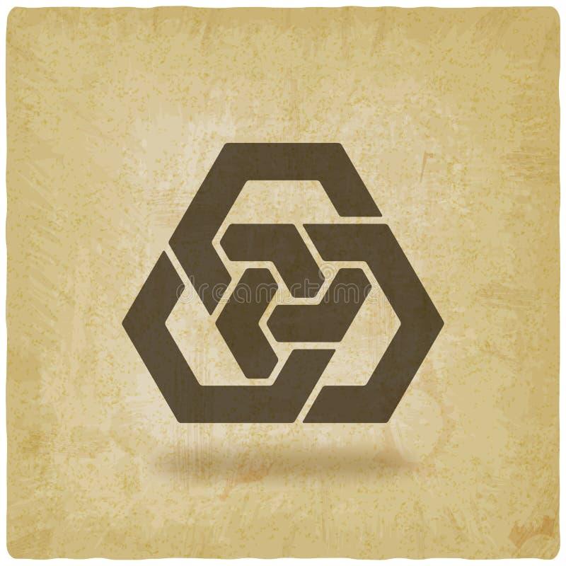 Fond de verrouillage abstrait de vintage d'hexagones illustration libre de droits