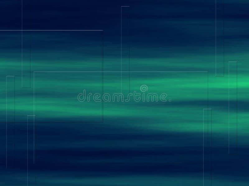 Fond de vert bleu illustration libre de droits