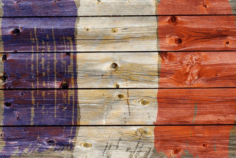 Fond de vieux drapeau français dans le style grunge photos libres de droits