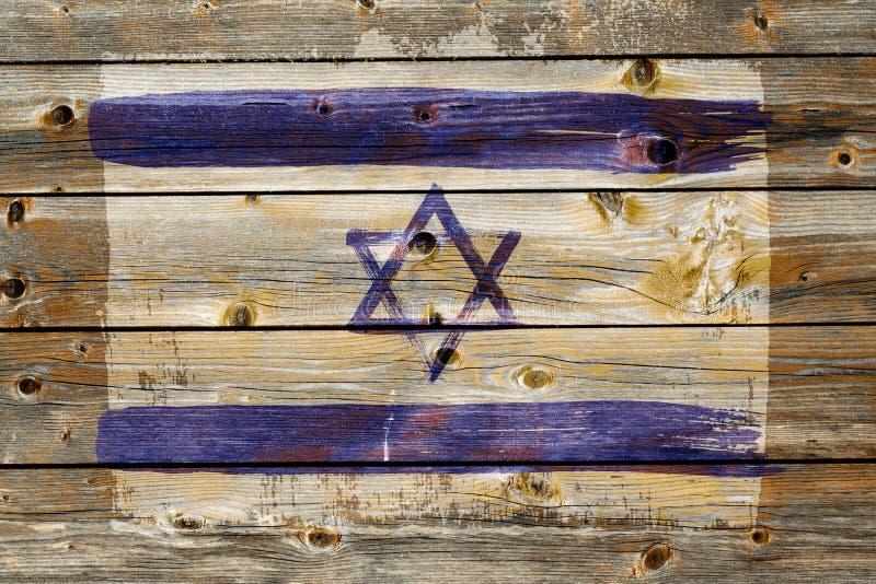 Fond de vieux drapeau israélien dans le style grunge photo libre de droits