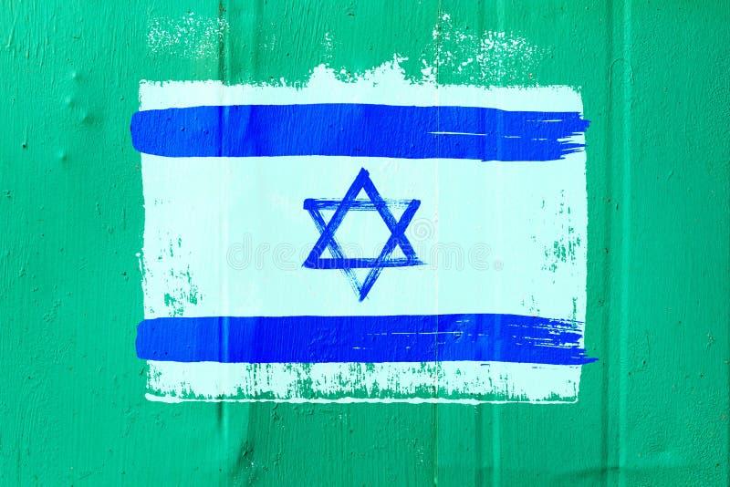Fond de vieux drapeau israélien dans le style grunge image libre de droits