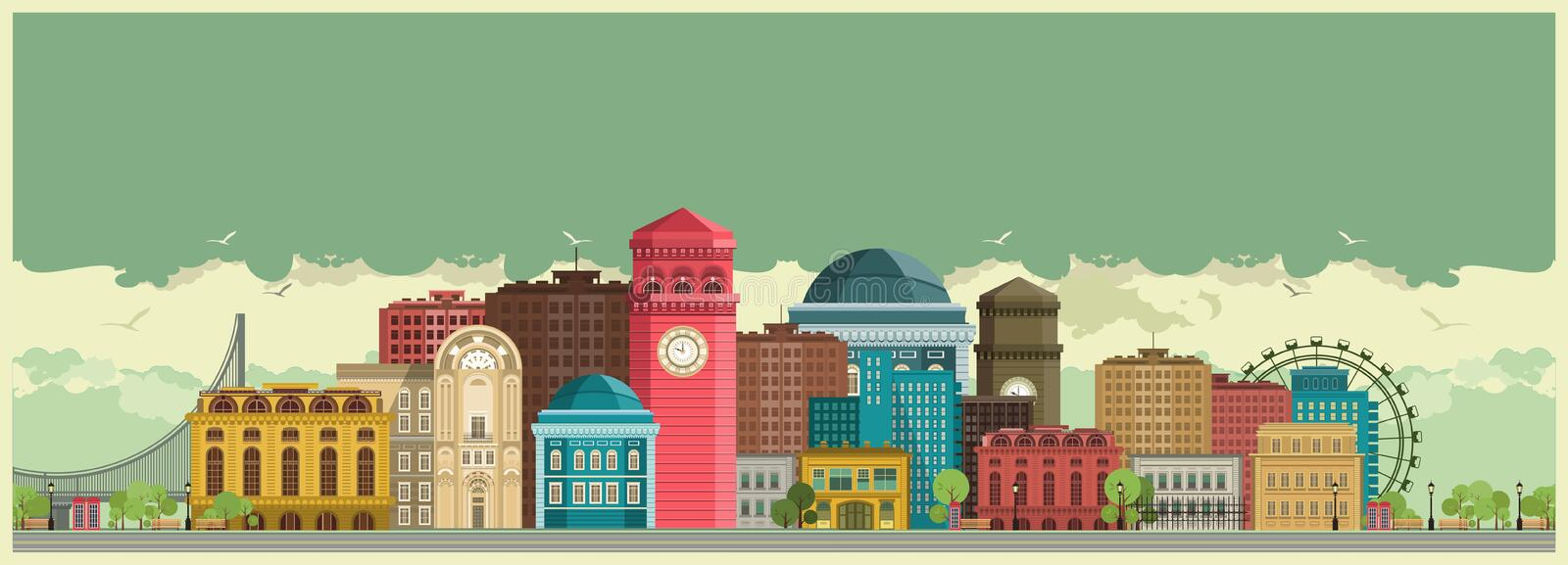 Fond de ville illustration stock