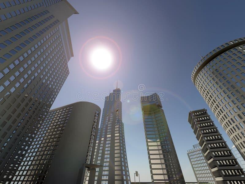 Fond de ville d'horizon photo libre de droits
