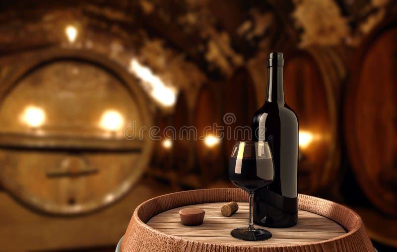 Fond de vin illustration stock