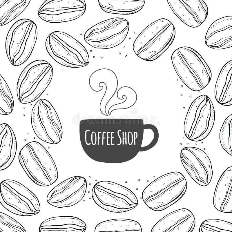 Fond de vintage de café illustration de vecteur