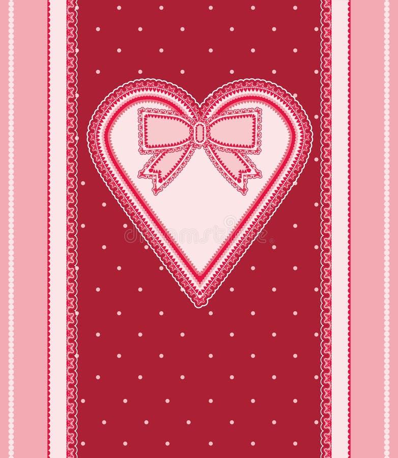 Fond de vintage d'amour illustration de vecteur