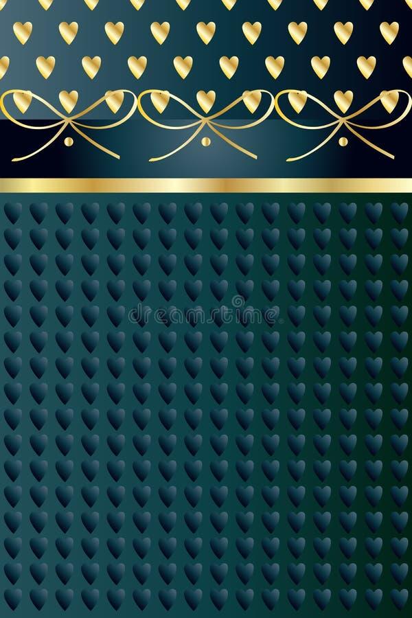 Fond de vintage de coeur d'or illustration de vecteur