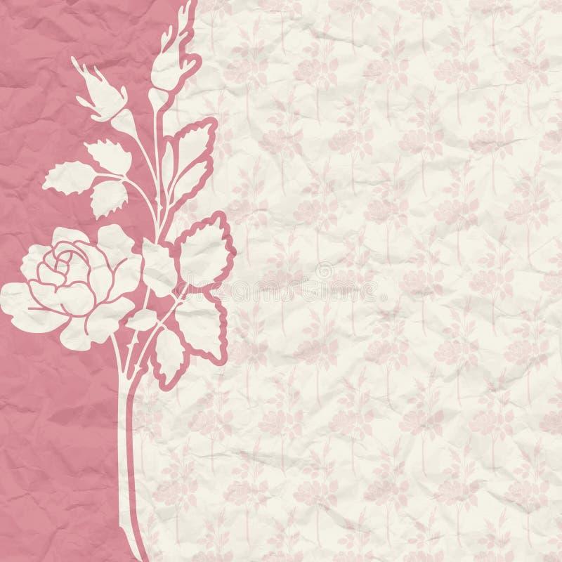 Fond De Vintage Pour L Invitation Avec Des Fleurs Photographie stock