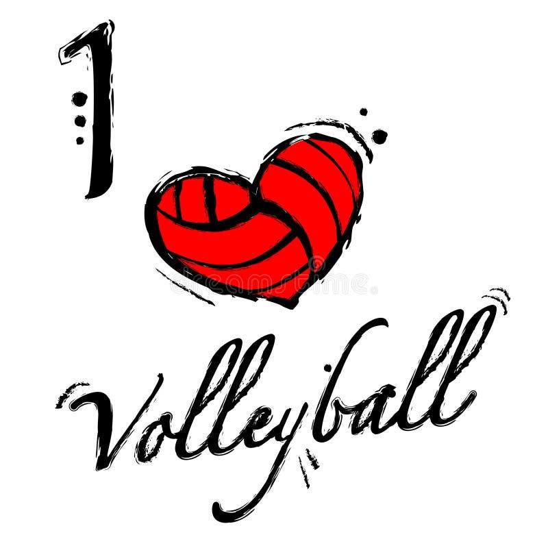 Fond de volleyball de coeur illustration libre de droits