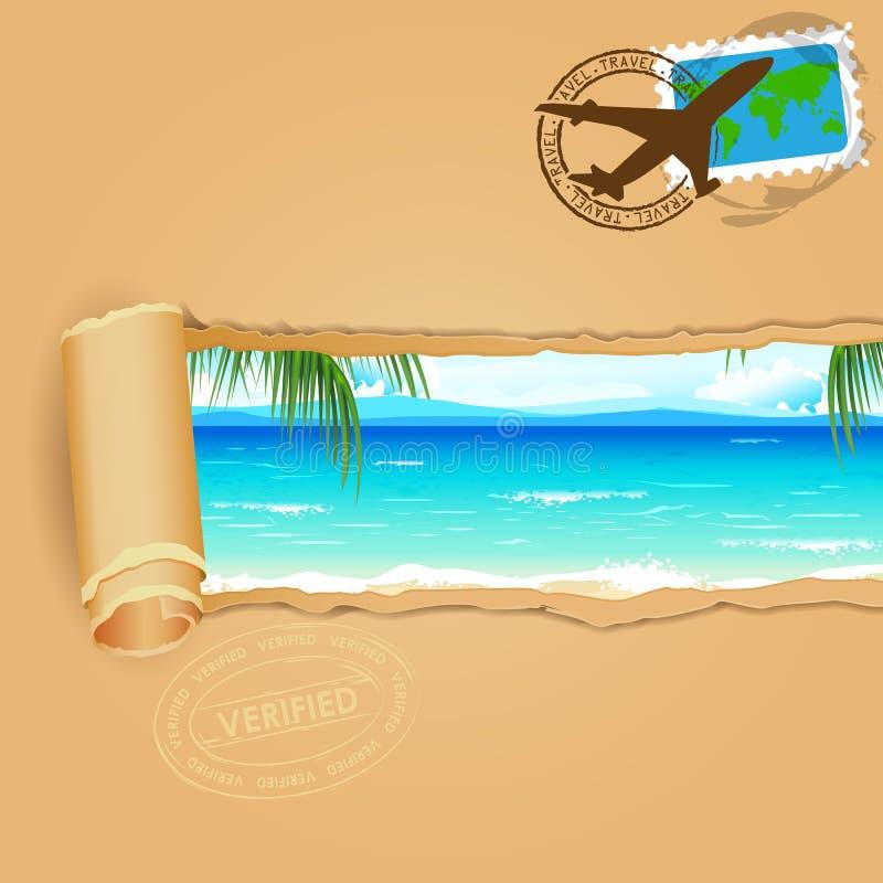Fond de voyage pour la plage de mer illustration libre de droits