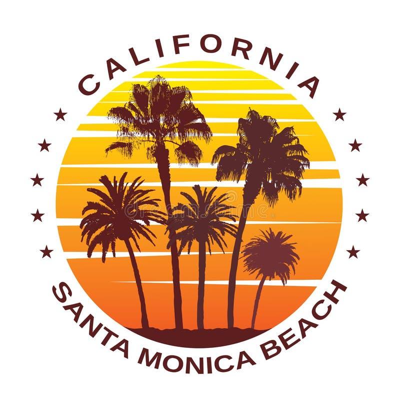 Fond de voyage pour Santa Monica, la Californie illustration libre de droits