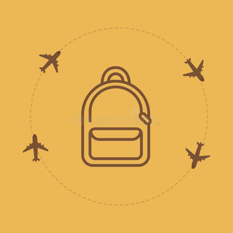Fond de voyage de sac illustration libre de droits