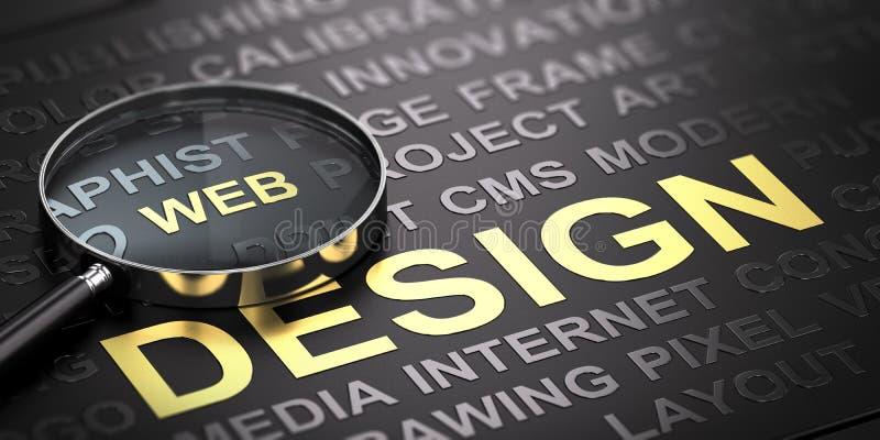 Fond de web design Communication d'Internet illustration stock