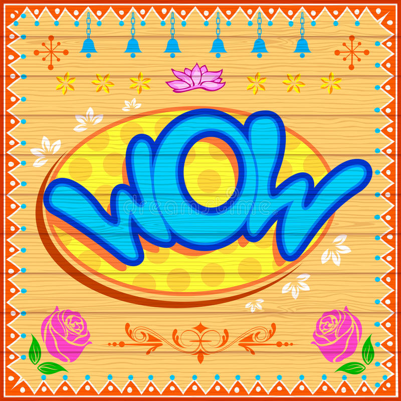 Fond de wow illustration stock