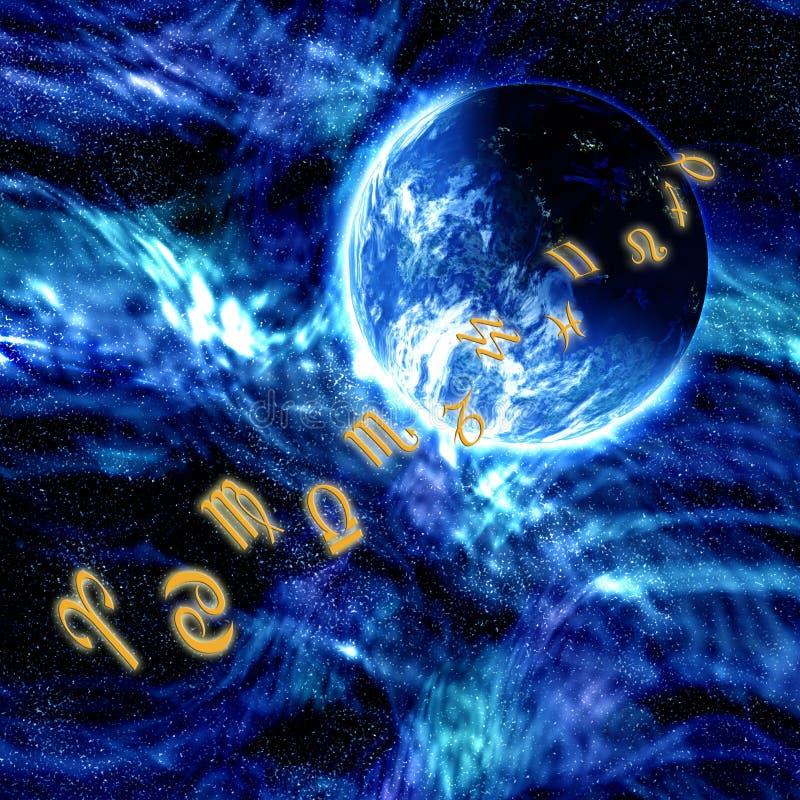 Fond de zodiaque illustration de vecteur