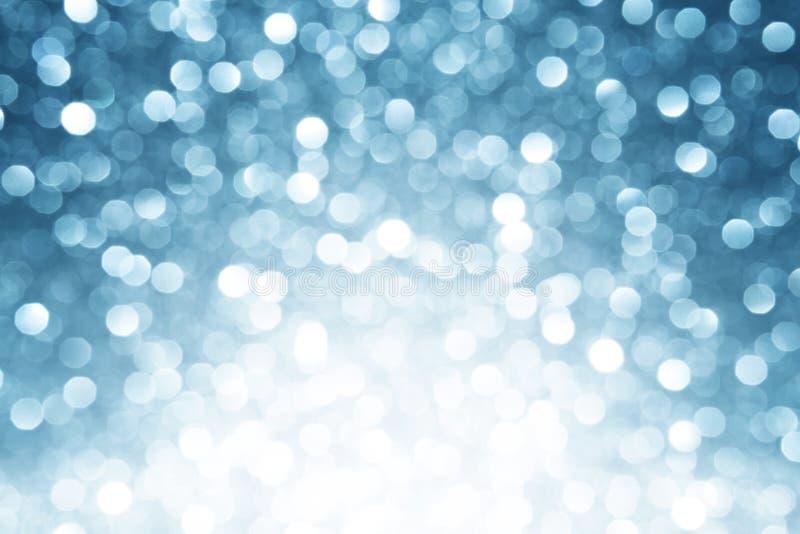 Fond defocused bleu de lumières photographie stock