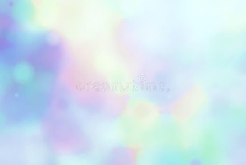 Fond defocused de taches d'aquarelle Texture jaune lilas d'abrégé sur peinture de rose bleu illustration stock