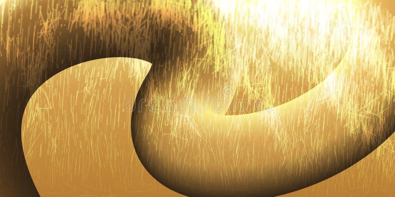 Fond des éraflures chaotiques et de l'écoulement Concept futuriste illustration stock