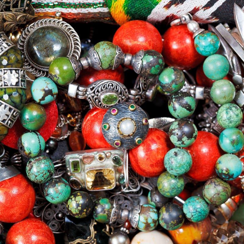Fond des bijoux antiques image libre de droits