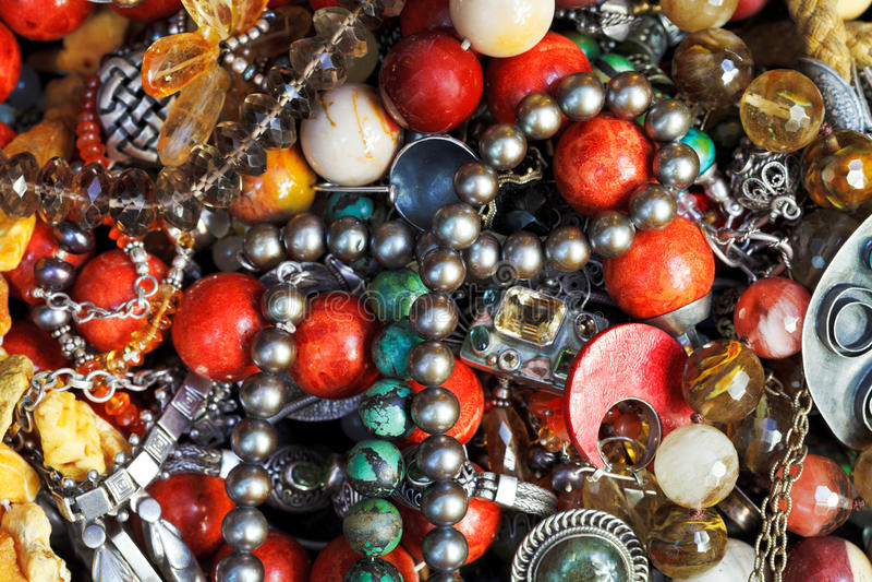 Fond des bijoux antiques image stock