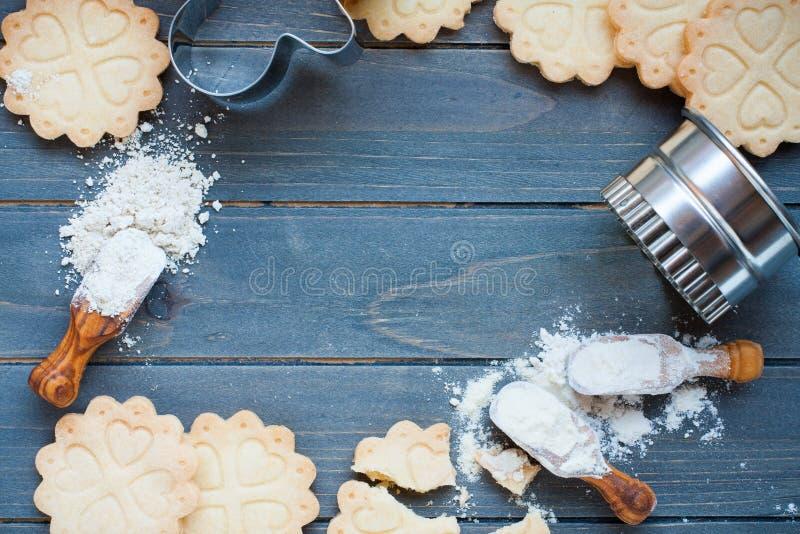Fond des biscuits gratuits de gluten de cuisson photo libre de droits