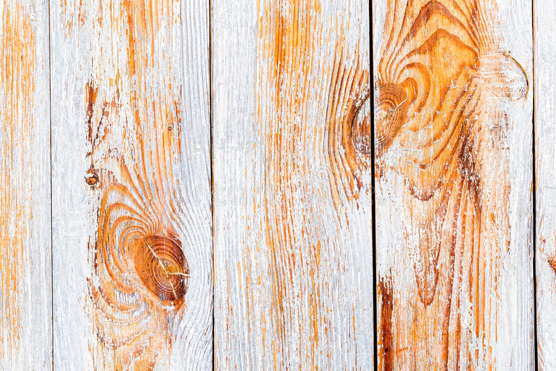 Fond des conseils naturels en bois avec la peinture d'épluchage image stock