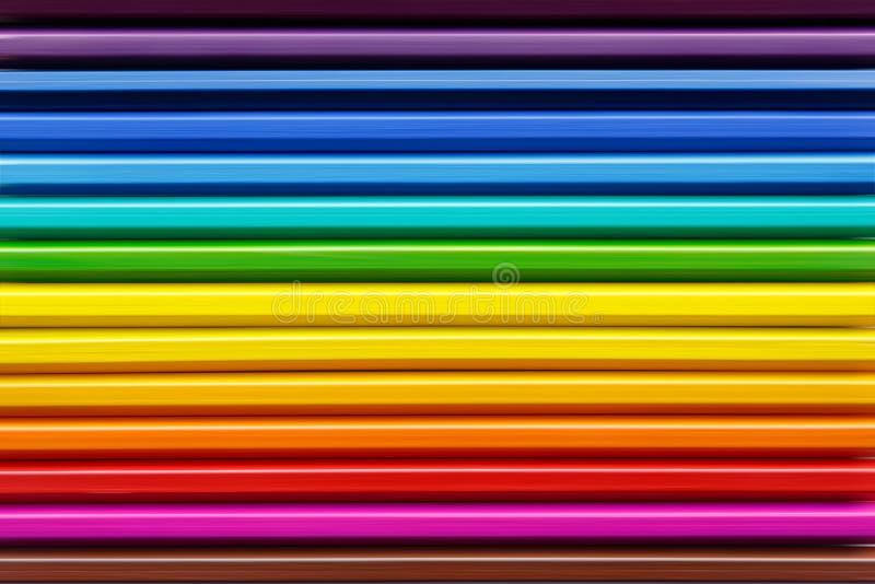 Fond des crayons colorés texture des bandes colorées photo stock