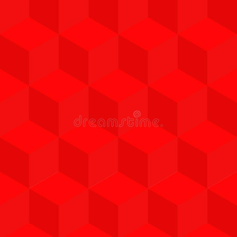 Fond des cubes multicolores Illusion optique des cubes illustration de vecteur