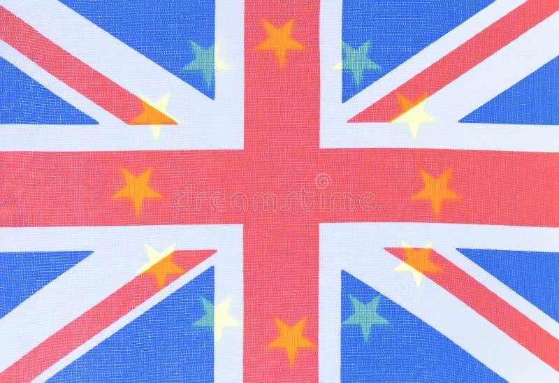 Fond des drapeaux d'UE et du R-U photo stock