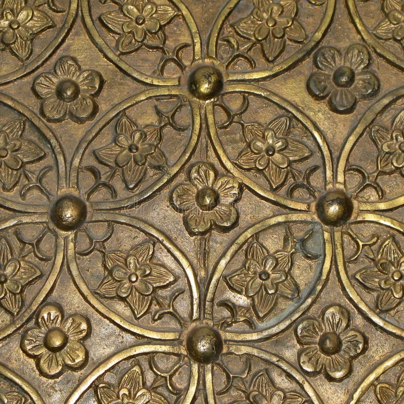 Fond des fleurs d'or image libre de droits