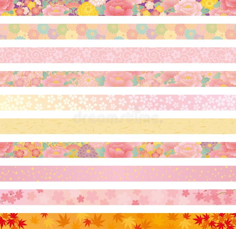 En-tête floral japonais illustration libre de droits