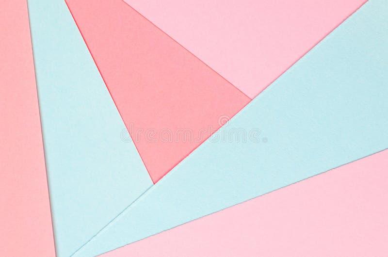 Fond des formes géométriques de papier coloré photo libre de droits