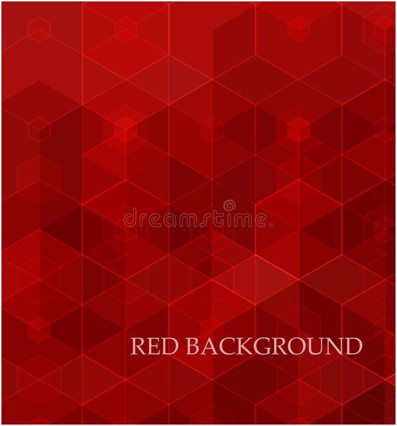 Fond des formes g?om?triques Configuration de mosa?que rouge Vecteur ENV 10 illustration libre de droits