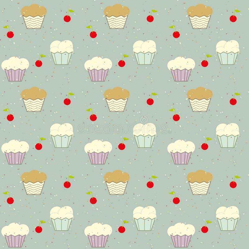 Fond des gâteaux illustration libre de droits