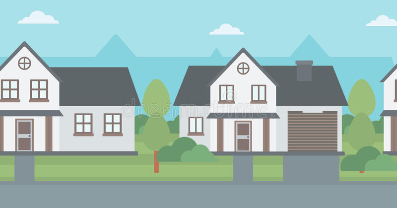 Fond des maisons suburbaines illustration stock