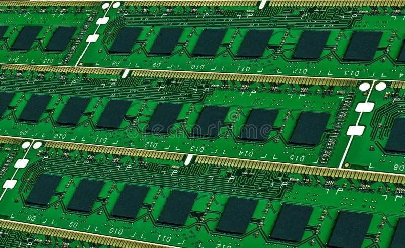 Fond des modules de mémoire centrale de l'ordinateur photo libre de droits