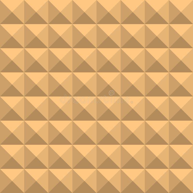 Fond des places beiges avec des nuances et des bords, sous forme de mosaïque volumétrique géométrique graphique n illustration stock