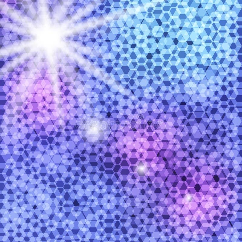 Fond des polygones colorés illustration stock