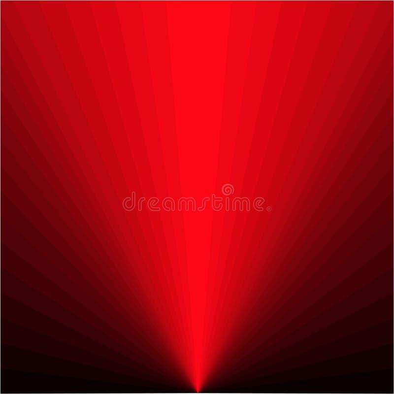 Fond des rayons rouges illustration libre de droits
