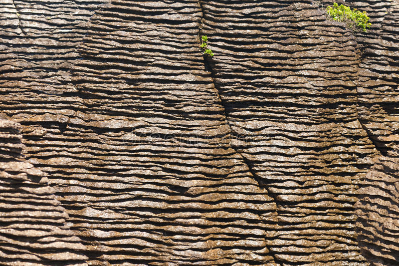 Fond des roches de crêpe de Punakaiki, NZ images libres de droits